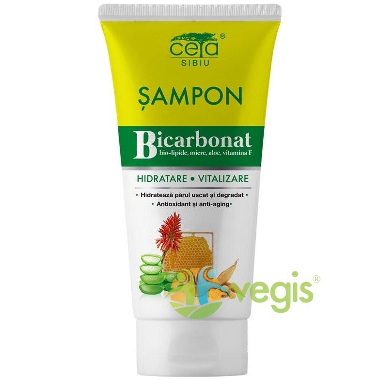 Sampon Bicarbonat pentru Hidratare si Vitalizare cu Bio-Lipide, Miere, Aloe si Vitamina F 200ml