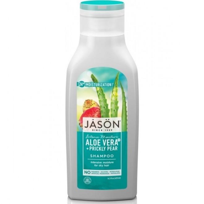Sampon hidratant Jason cu aloe vera 80% si fruct de cactus, pentru par uscat, 473 ml