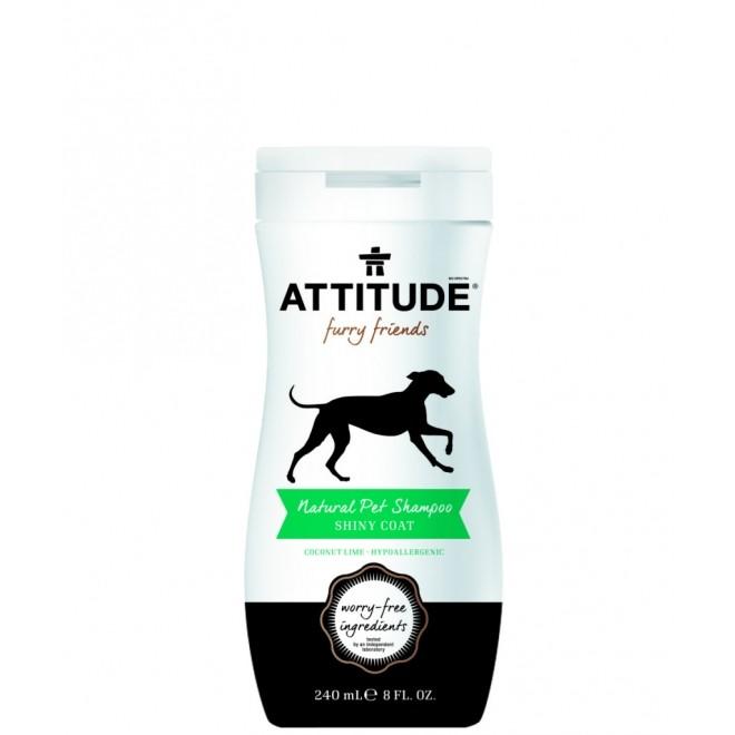 Sampon natural pentru animale, Attitude, blana stralucitoare, 240 ml