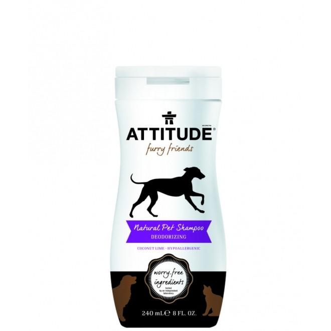 Sampon natural pentru animale, Attitude, dezodorizant, Coconut Lime, 240 ml