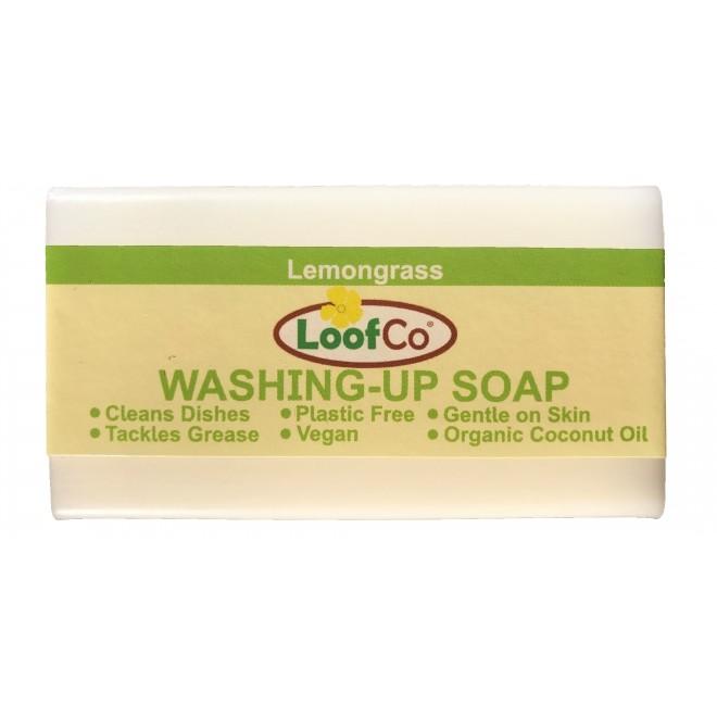 Sapun solid pentru spalat vase si maini, cu lemongrass, zero plastic, LoofCo,100 g