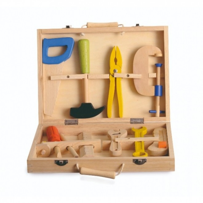 Set de unelte din lemn, Egmont Toys +3ani