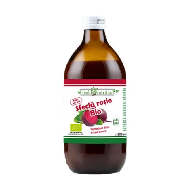 Sfecla rosie, suc bio 100% presat la rece, Health Nutrition, 500ml