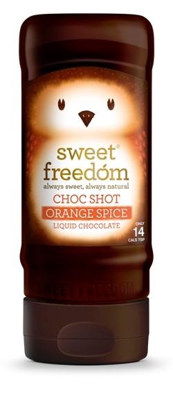 Sirop de ciocolata Sweet Freedom, Choc Shot, Orange Spice, 320 g