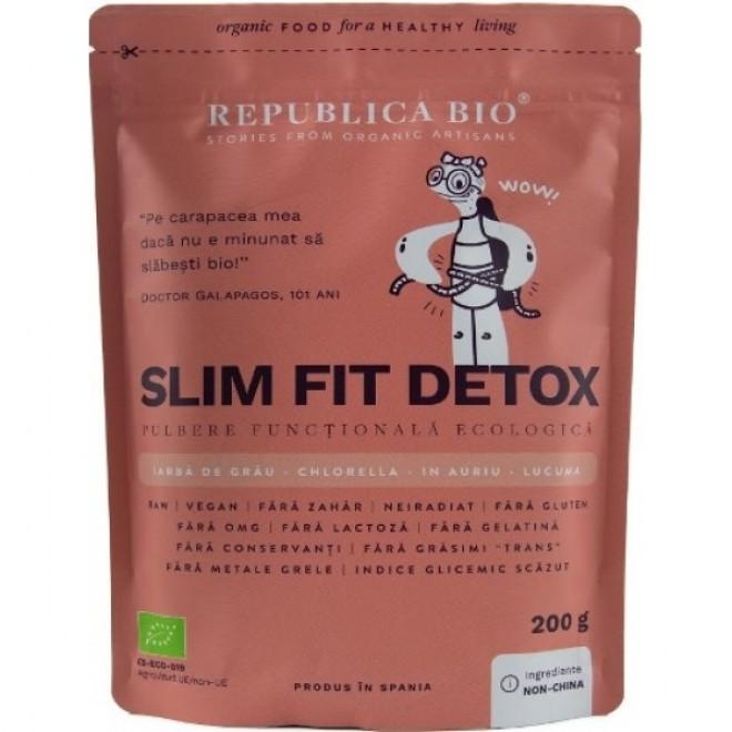 Slim Fit Detox, pulbere functionala bio, Republica Bio, 200 g