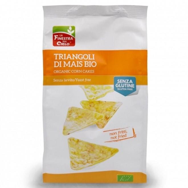 Snack bio triunghiular din porumb (fara gluten, fara drojdie), La Finestra sul Cielo, 100 g