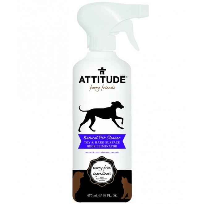 Solutie de curatat jucariile si suprafetele cu care intra in contact animalele, Attitude, lime si cocos, 475 ml