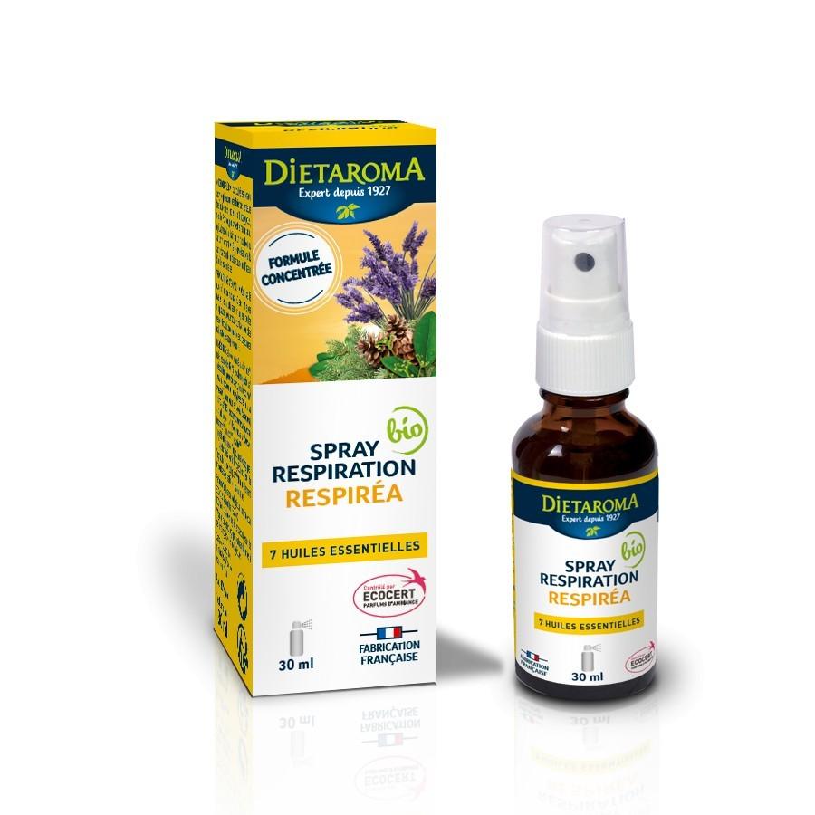 Spray Respirea, Amestec de 7 uleiuri esentiale, Uz Extern 30 ML Dietaroma