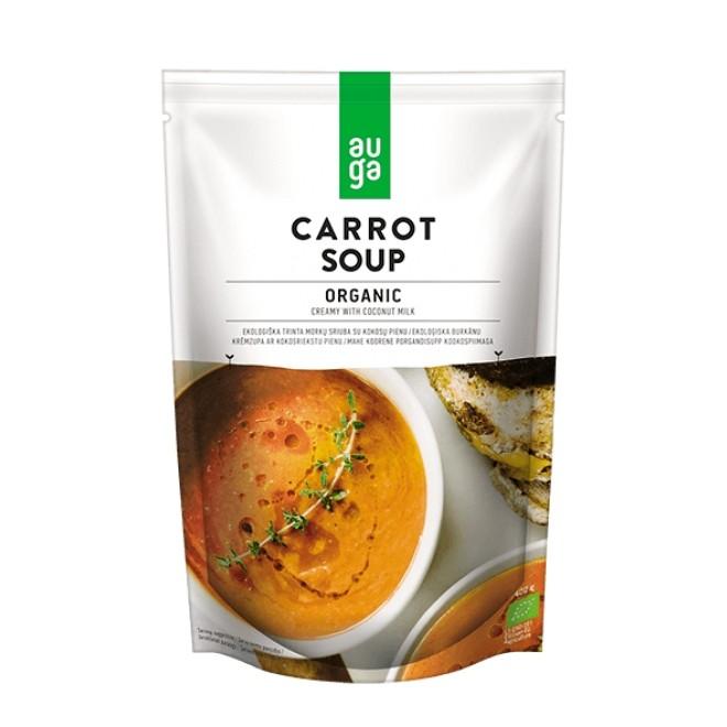 Supa crema bio de morcovi cu lapte de cocos, Auga, 400 g