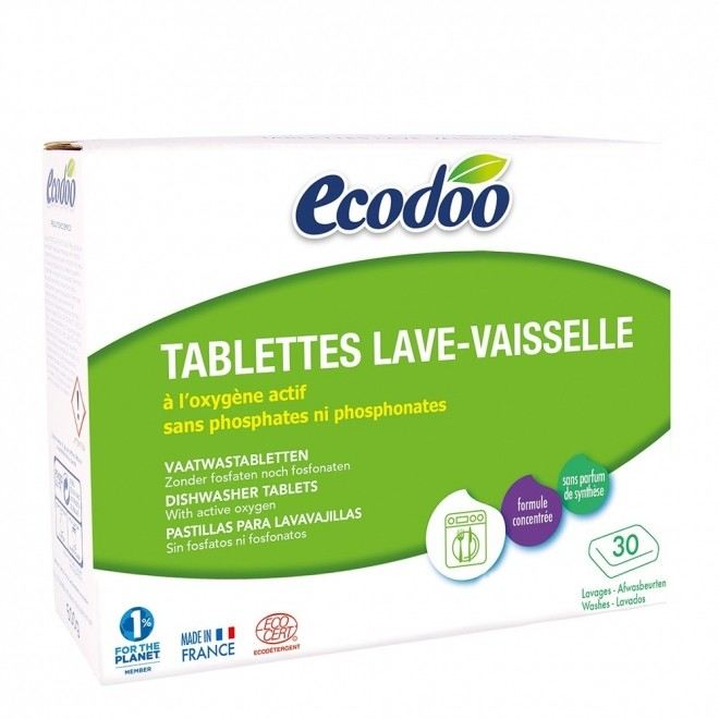 Tablete bio Ecodoo, pt. masina de spalat vase, 30 buc