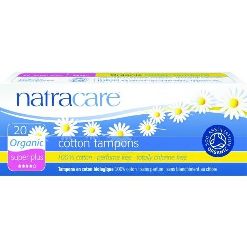 Tampoane interne bio Natracare - Super Plus (4 picaturi), 20 buc