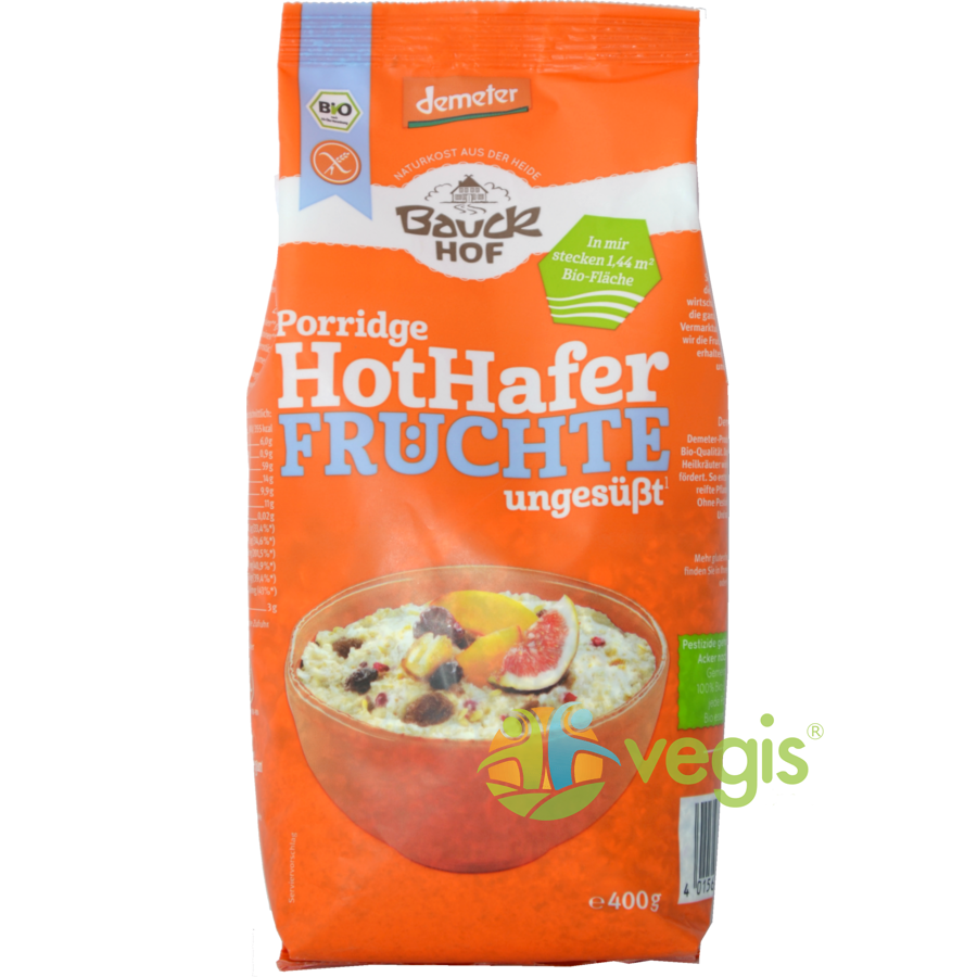 Terci cu Ovaz si Fructe Fara Gluten Ecologici/Bio 400g