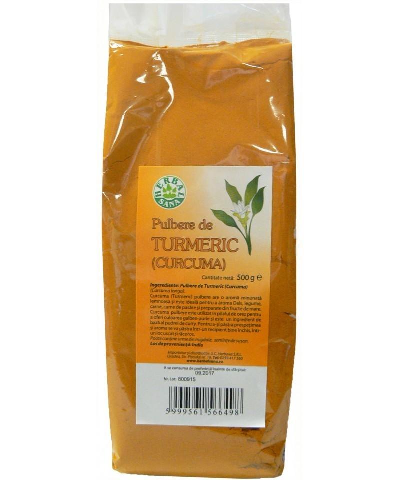Turmeric, Pulbere, 500 g, Herbavit