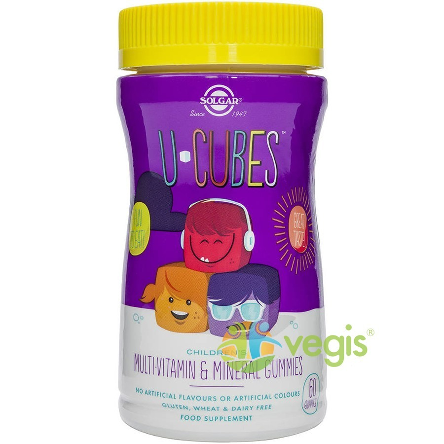 U-Cubes Multi-Vitamine Si Minerale Pentru Copii 60 jeleuri