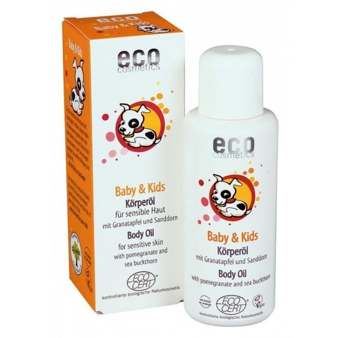 Ulei masaj 100% organic cu rodie si catina, Eco Cosmetics, 100 ml