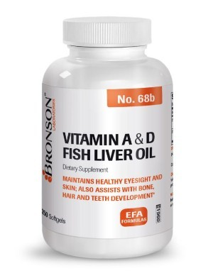 Vitamina A + Vitamina D3, 250 cps Bronson