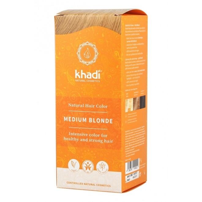 Vopsea henna Khadi - Blond Mediu (miere)