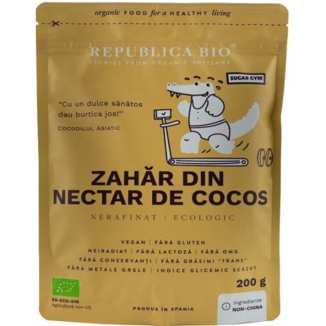 Zahar din nectar de cocos pur bio, Republica Bio, 200 g