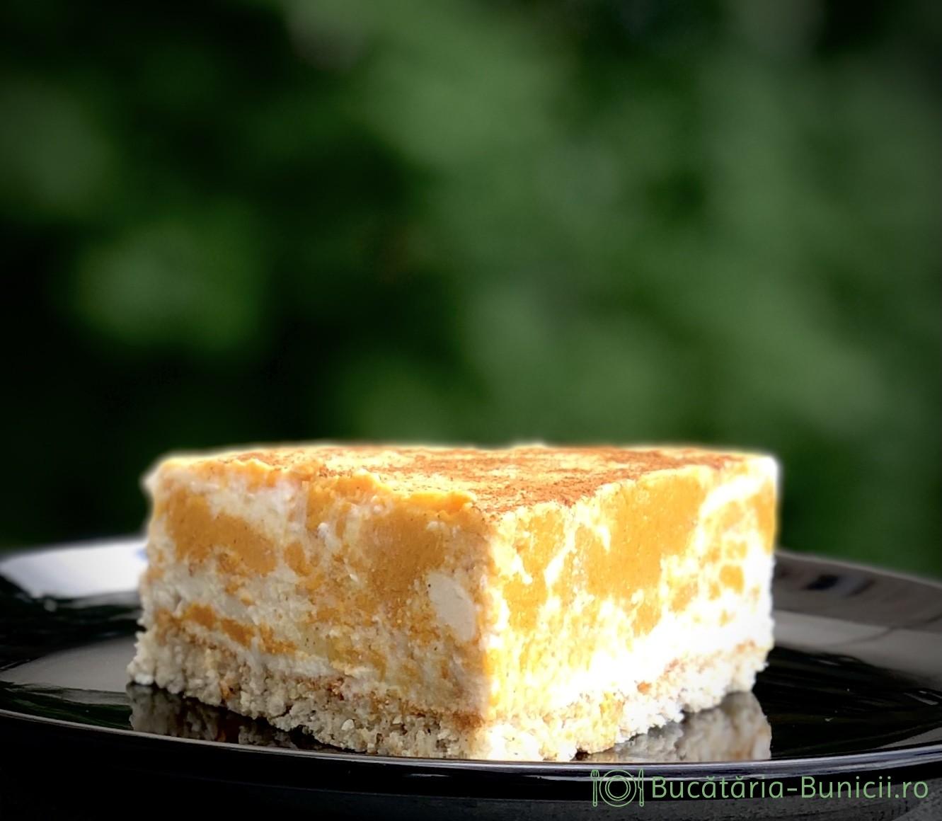 Cheesecake dietetic cu dovleac