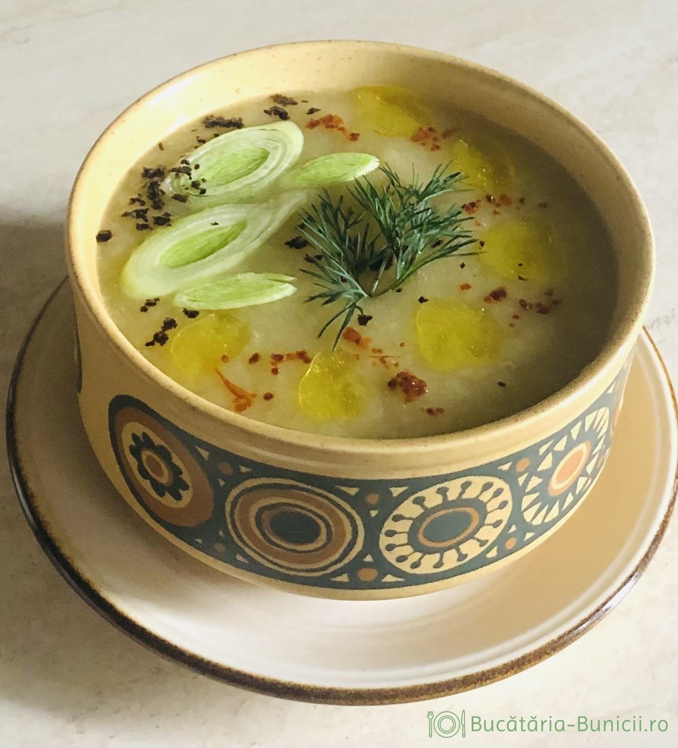 Supa crema de praz dietetica