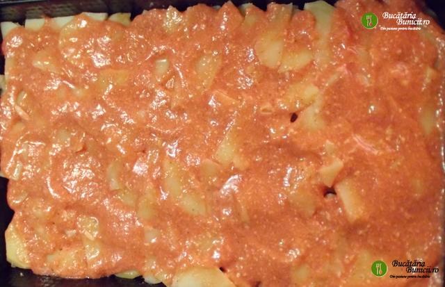 Musaca de cartofi si carne amestec